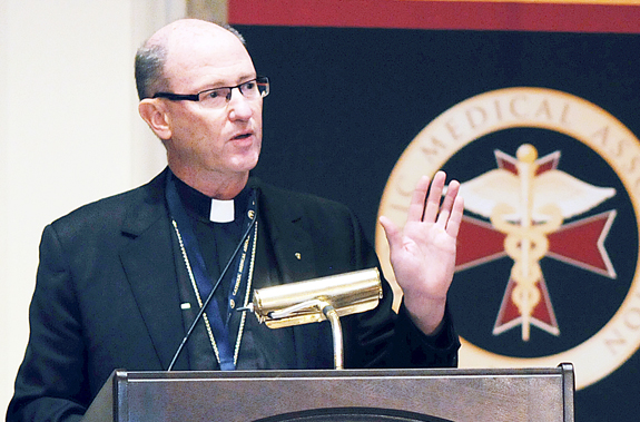 Bishop discusses evangelization during Catholic Medical Association conference